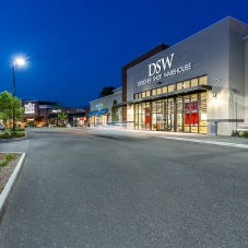 Whole Foods and DSW Designer Shoe Warehouse storefronts at Marketplace at Tech Center