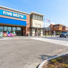Stein-Mart, Five Below and Ulta Beauty storefronts at Marketplace at Tech Center
