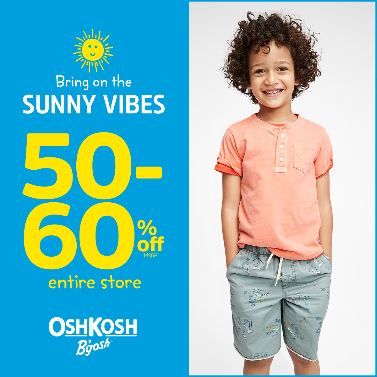 50-60% Off* Entire Store at OshKosh