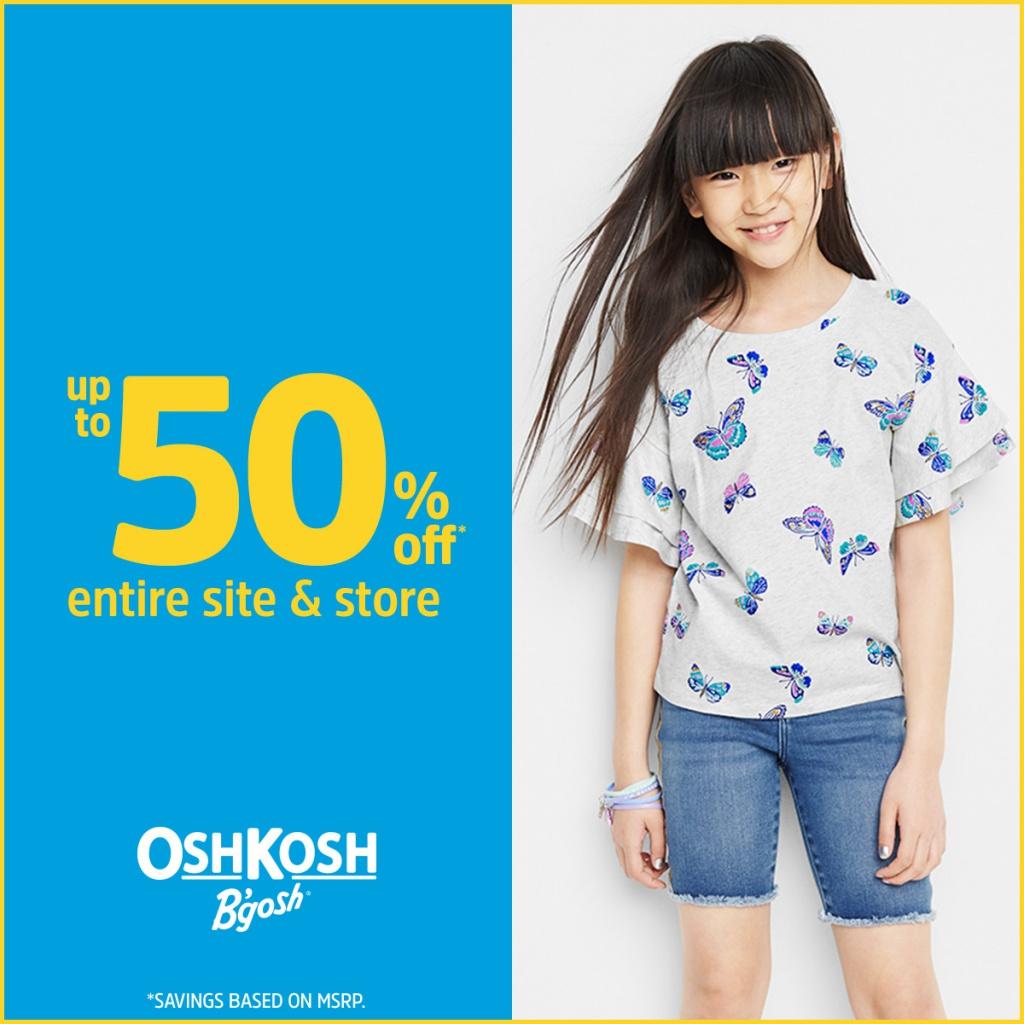UP TO 50% OFF* Entire Store at OshKosh B'gosh