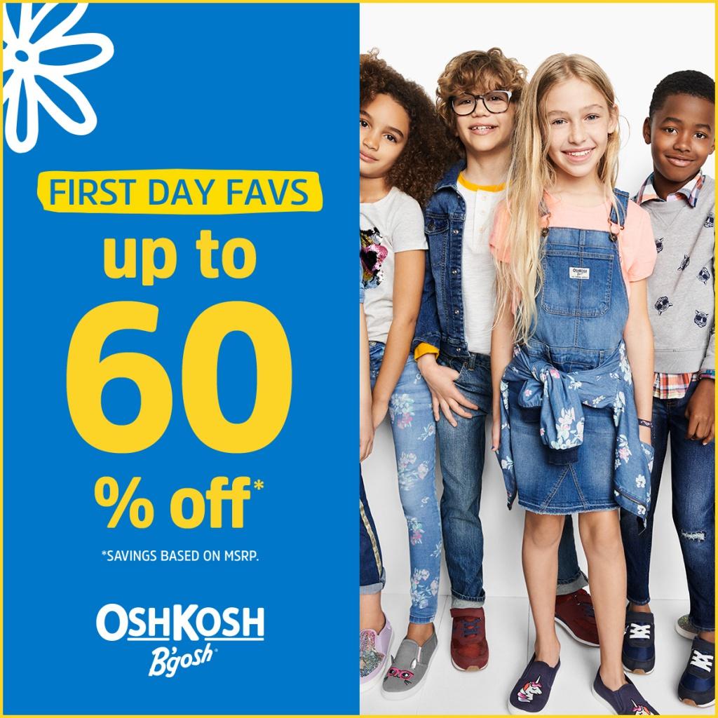Up to 60% OFF BTS FAVS at OshKosh