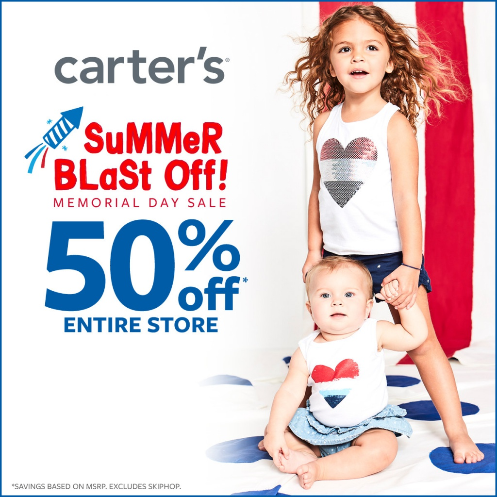 50% off* Entire Store! at Carter's
