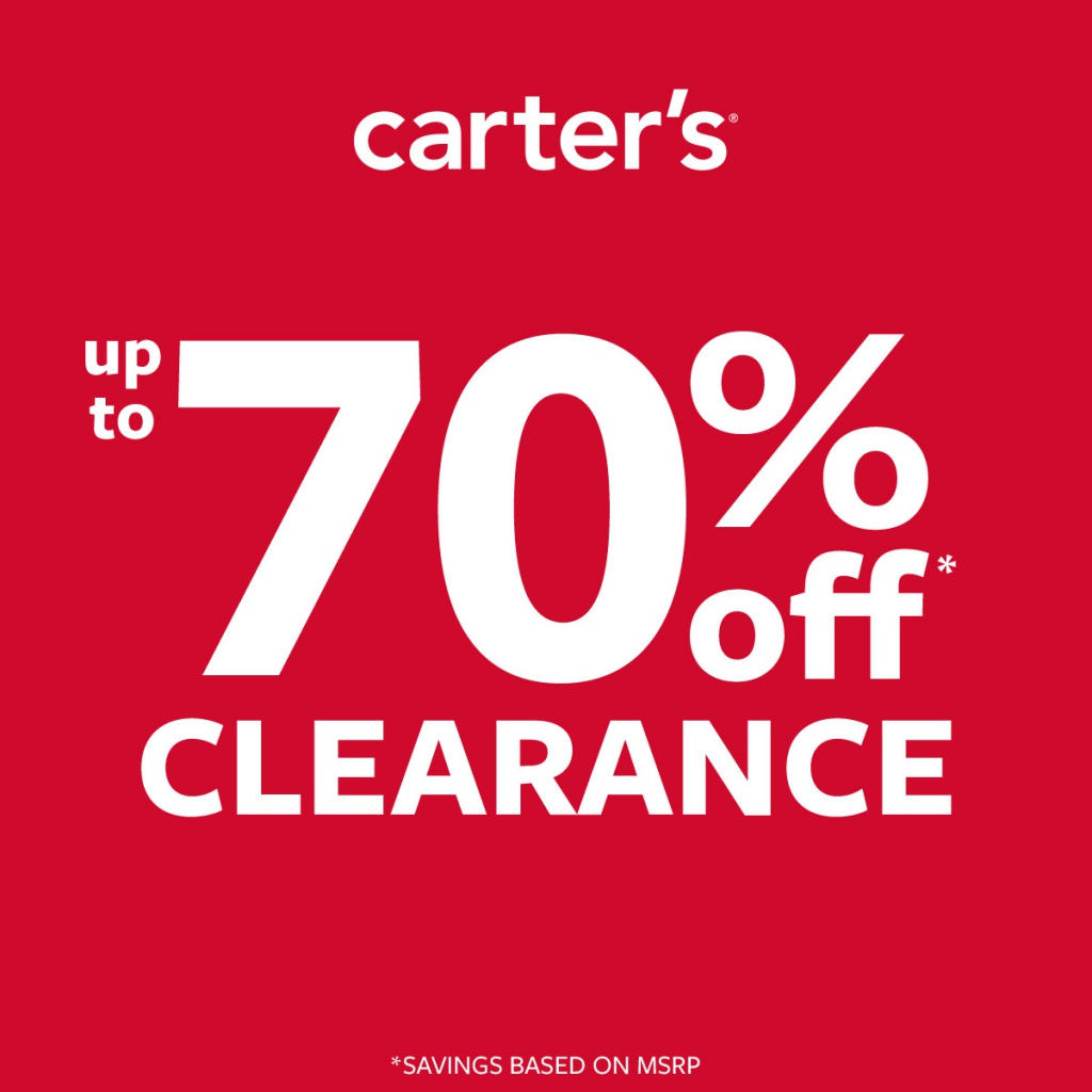 UP TO 70% OFF CLEARANCE / NEW ARRIVALS UP TO 50% OFF at Carter's