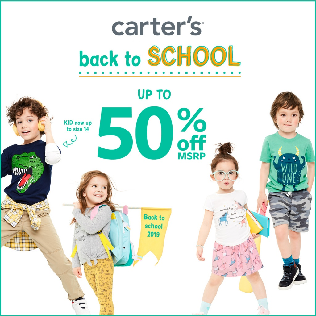 CLASS OF CHARACTERS UP TO 50% OFF*at Carter's