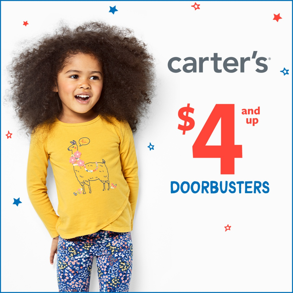 $4 AND UP DOORBUSTERS at Carter's